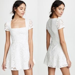 FLYNN SKYE Maiden White Embroidered Eyelet Dress